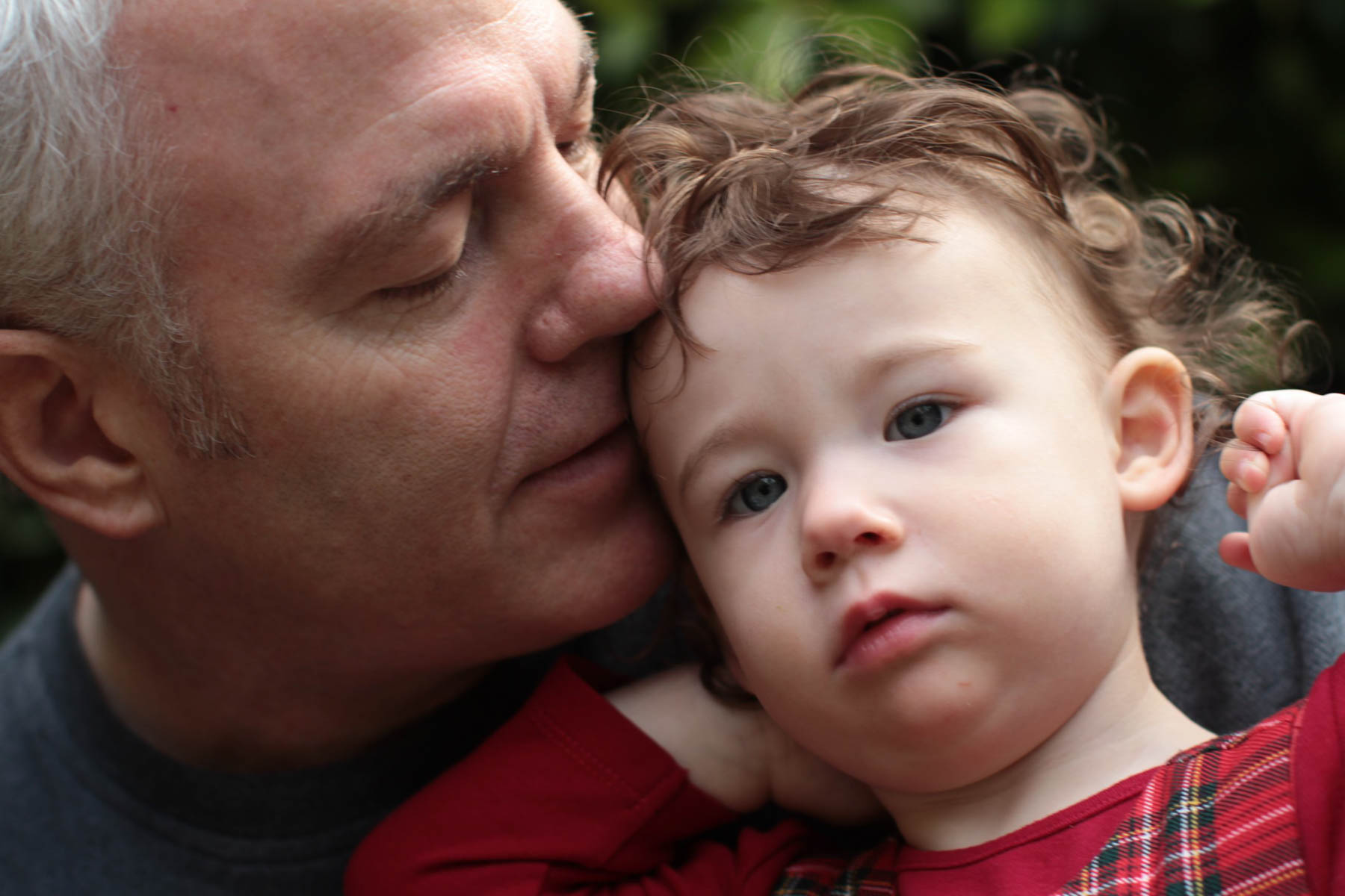 Grandpa with grandchild