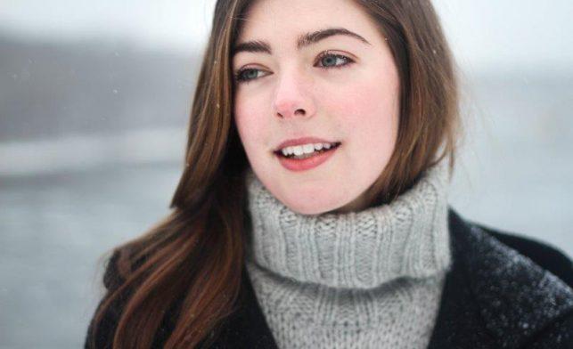 Teen girl in winter