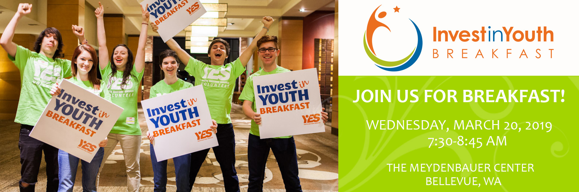 Join YES for the 2019 Invest in Youth Breakfast