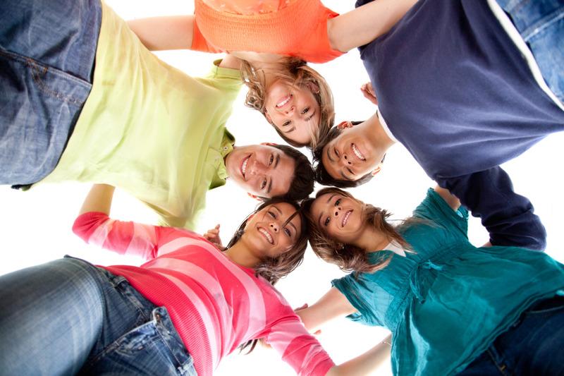 Teens in circle